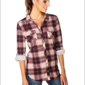 ECLIPSE | TATTOO Button Down Plaid L/S top